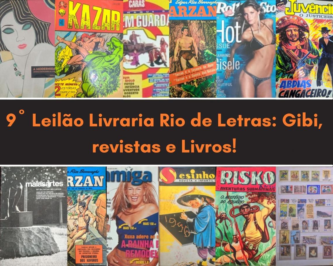 9º Leilão Livraria Rio de Letras: Gibis, Revistas e Livros!