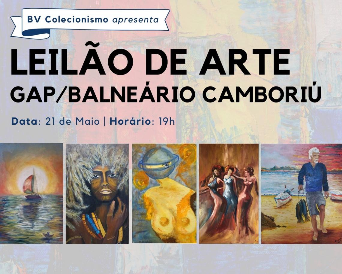 LEILÃO DE ARTE GRUPO DE ARTISTAS PLÁSTICOS DE BALNEÁRIO CAMBORIÚ - SANTA CATARINA