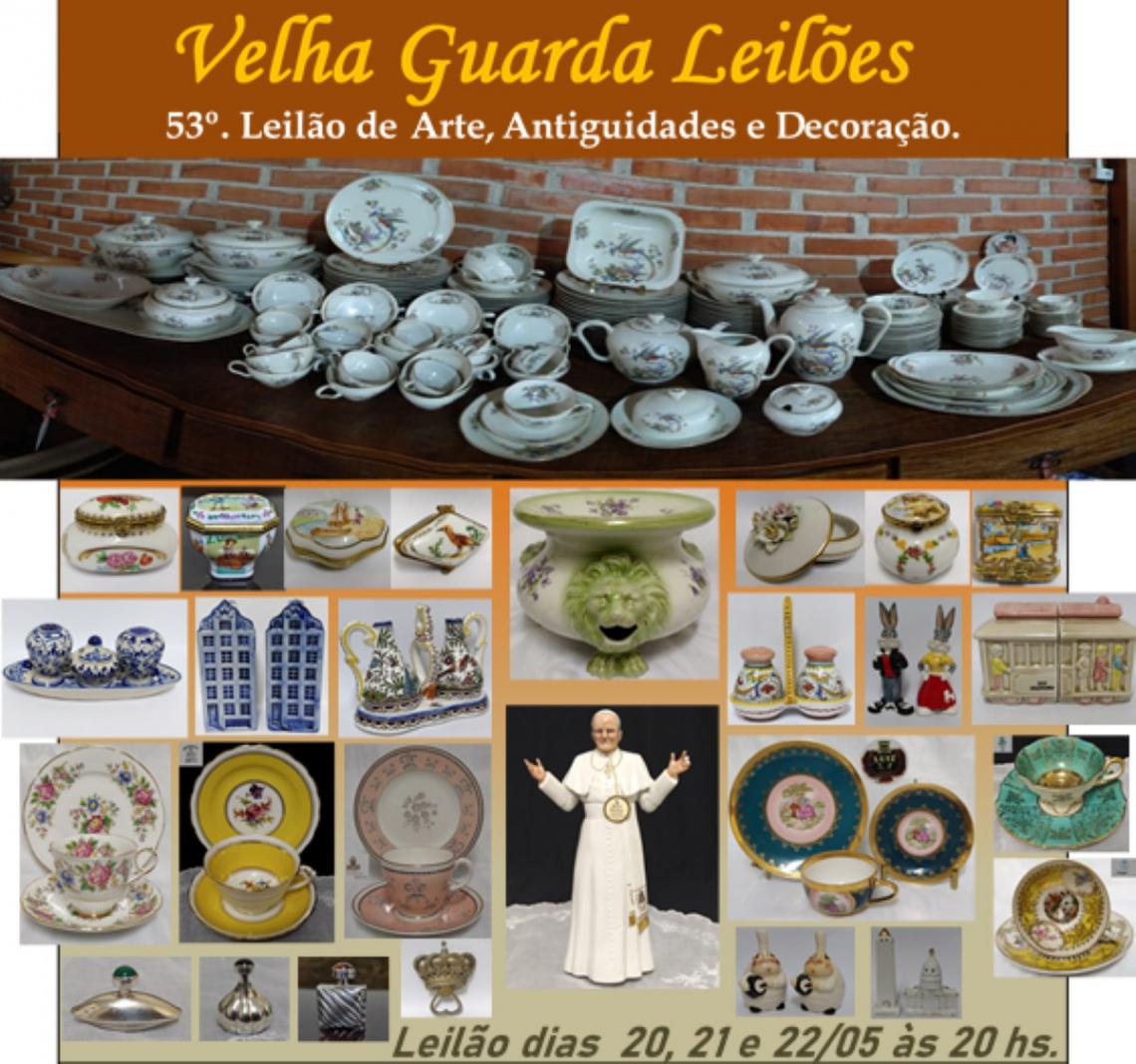 53º LEILÃO VELHA GUARDA LEILÕES - Arte, Antiguidades, Decoração e Colecionismo
