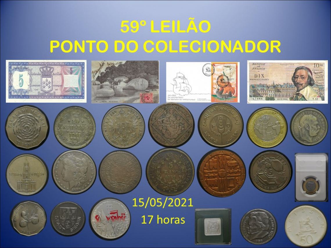 59º LEILÃO PONTO DO COLECIONADOR