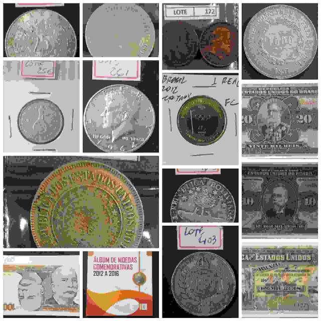 33º LEILÃO  NUMISMART - Cédullas, Moedas, Medalhas - Nacionais e Internacionais