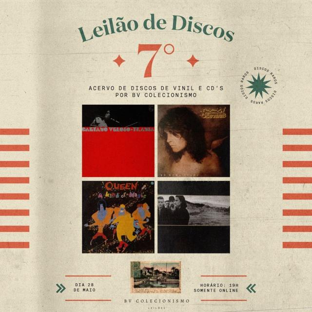 7º GRANDE LEILÃO DE DISCOS DE VINIL E CDs
