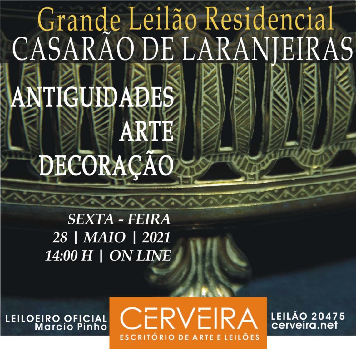 GRANDE LEILÃO RESIDENCIAL CASARÃO DE LARANJEIRAS - ANTIGUIDADES   ARTE   DECORAÇÃO