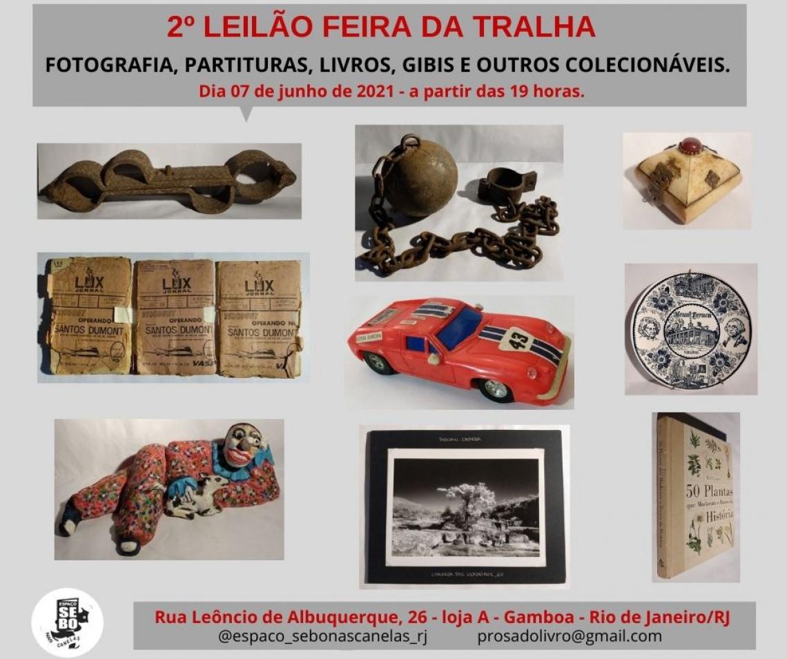 2º LEILÃO FEIRA DA TRALHA -  FOTOGRAFIA, PARTITURAS, LIVROS, GIBIS E OUTROS COLECIONÁVEIS.