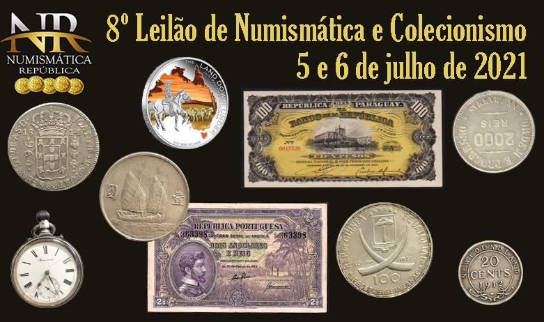 8º Leilão de Numismática e Colecionismo - NUMISMÁTICA REPÚBLICA