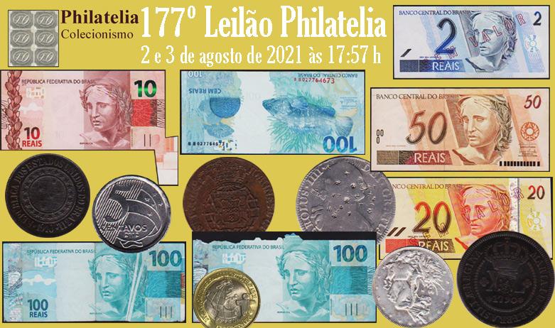 177º Leilão de  Filatelia e Numismática da Philatelia -  COLEÇÃO DAVI MIGUEL DE MELO