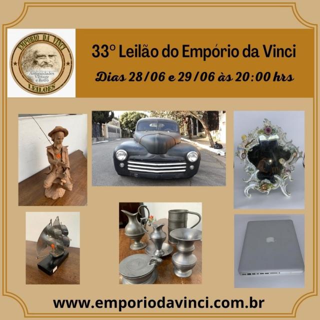33º Leilão do Empório da Vinci - Cacarecos, Relógios, Peças de Automóveis & Oportunidades.