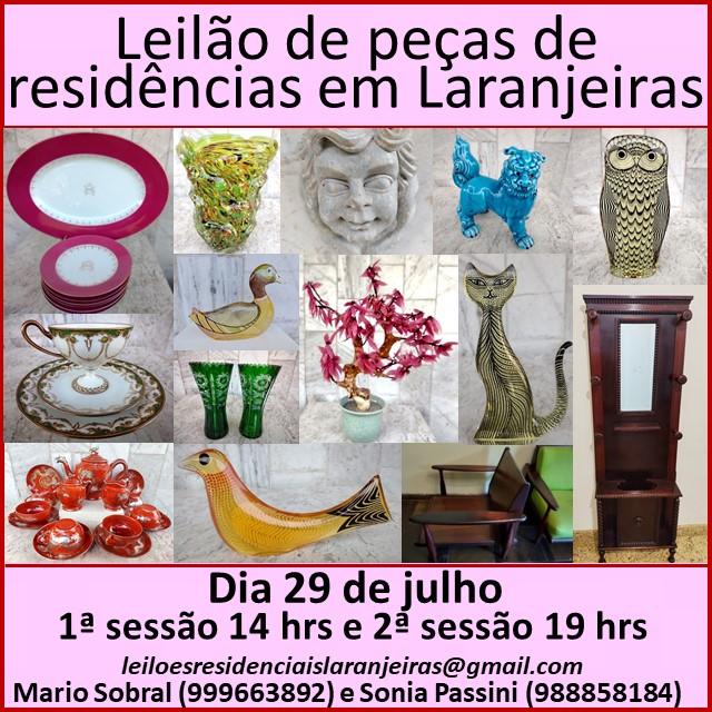 LEILÃO DE PEÇAS DE RESIDÊNCIAS EM LARANJEIRAS
