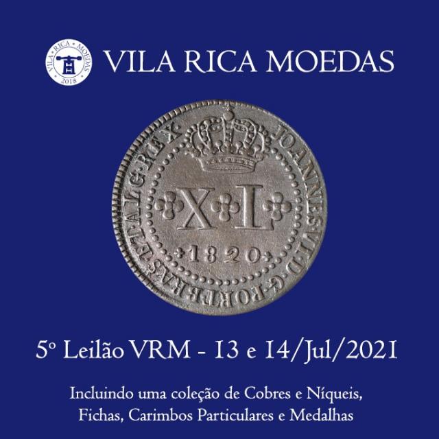 5º Leilão Vila Rica Moedas