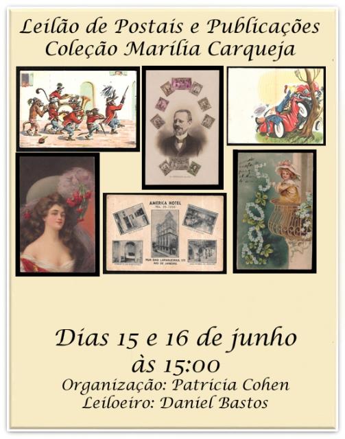 LEILÃO DE POSTAIS E PUBLICAÇÕES COLEÇÃO MARILIA CARQUEJA