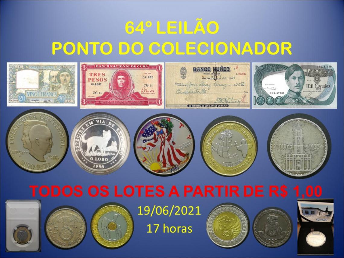 64º LEILÃO PONTO DO COLECIONADOR