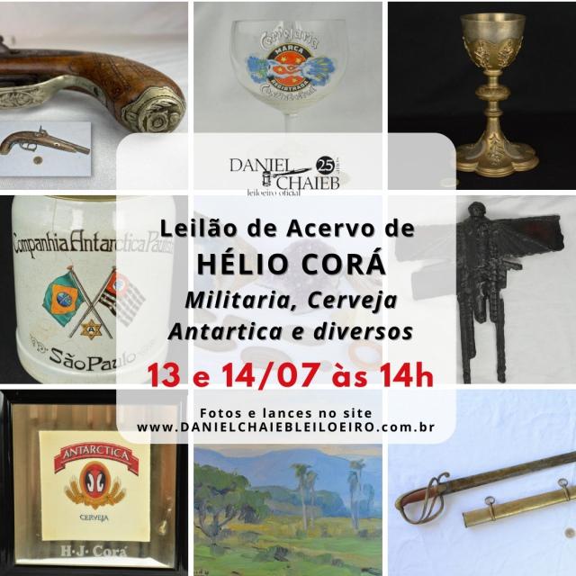 Leilão do Acervo de Hélio Corá - Militaria, Cerveja Antarctica e diversos