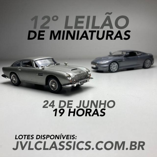 12º Leilão de Miniaturas de carros -  JVL Classics