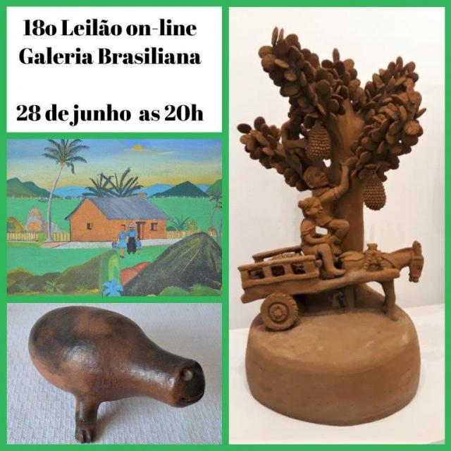 18º LEILÃO ONLINE GALERIA BRASILIANA