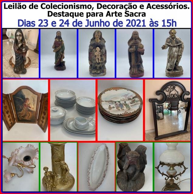 LEILÃO DE COLECIONISMO, DECORAÇAO E ACESSORIOS DESTAQUE PARA ARTE SACRA