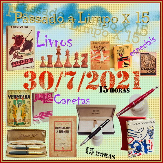 15º LEILÃO PASSADO A LIMPO - LIVROS RAROS, AUTOGRAFADOS, CANETAS E XADREZ