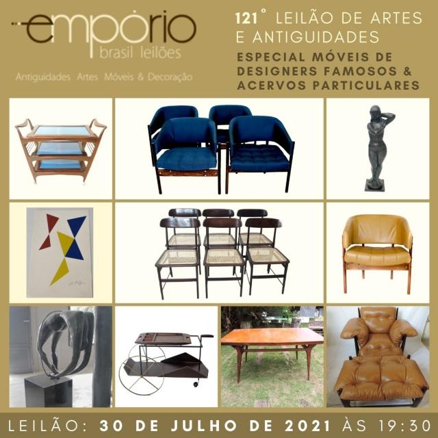 121º Leilão de Artes & Antiguidades - Especial Móveis de Designers Famosos & Acervos Particulares!!!