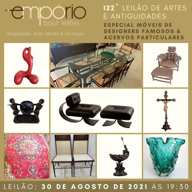 122º Leilão de Artes & Antiguidades - Especial Móveis de Designers Famosos & Acervos Particulares!!!