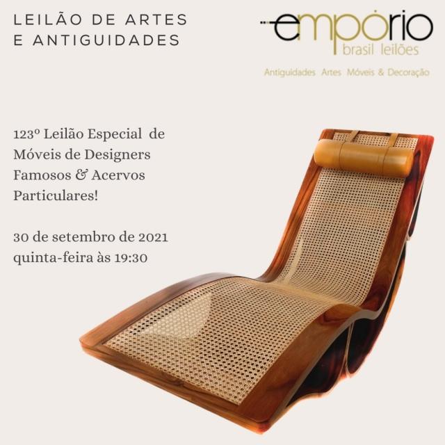 123º Leilão de Artes & Antiguidades - Especial Móveis de Designers Famosos & Acervos Particulares!!!