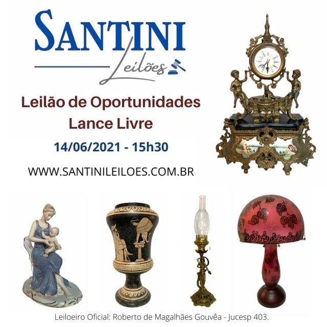 Leilão de Oportunidades à Lance Livre - Artes e Antiguidades.