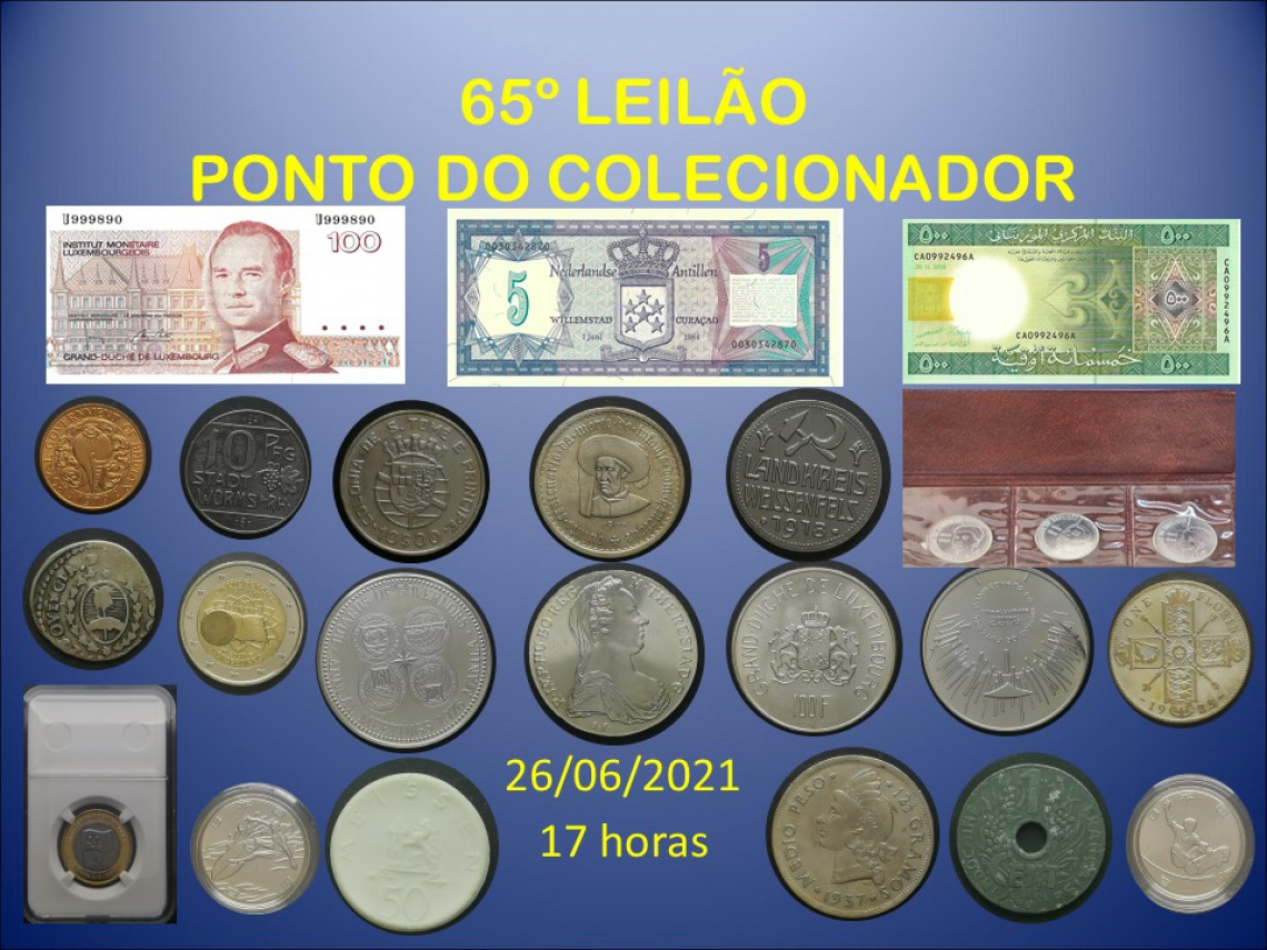 65º LEILÃO PONTO DO COLECIONADOR
