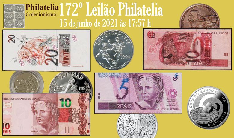 172º Leilão de Filatelia e Numismática - Philatelia Selos e Moedas