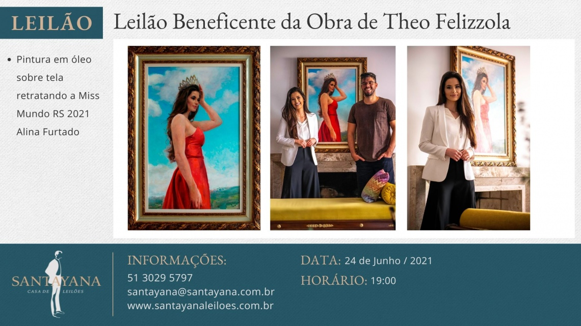 LEILÃO BENEFICENTE DE OBRA DO ARTISTA THEO FELIZZOLA EM PROL À ONG INOVA