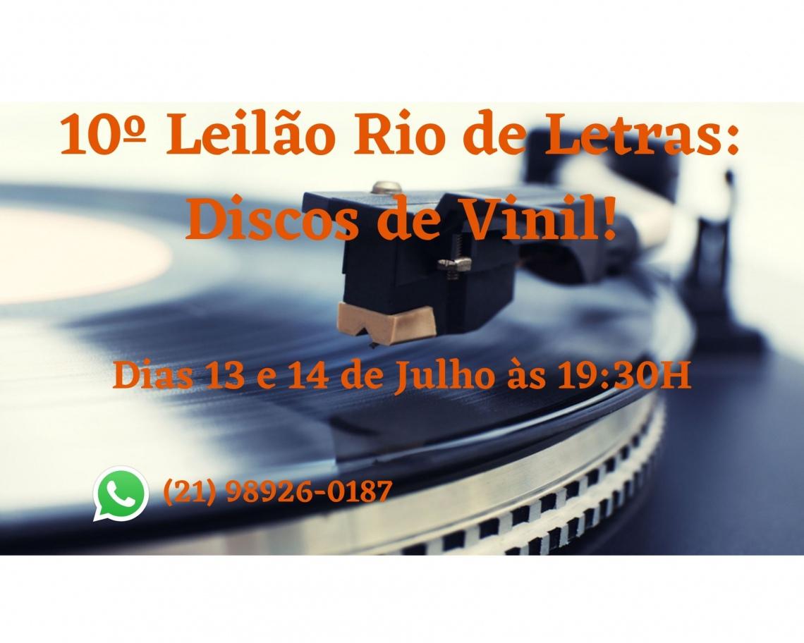 10º Leilão Rio de Letras: Discos de Vinil