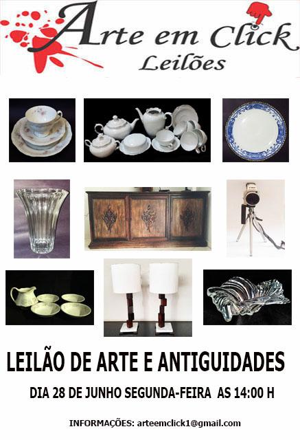 LEILÃO ARTE EM CLICK DE ARTE E ANTIGUIDADES