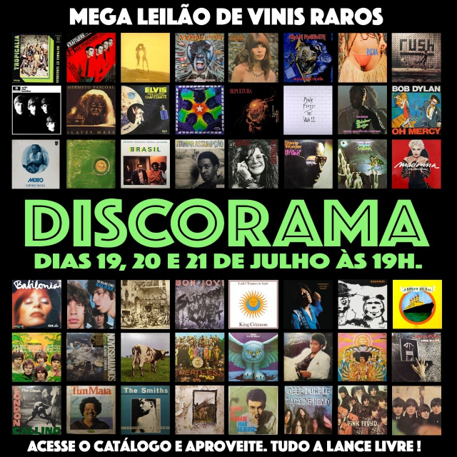 32º MEGA LEILÃO DE DISCOS RAROS DE VINIL - DISCORAMA