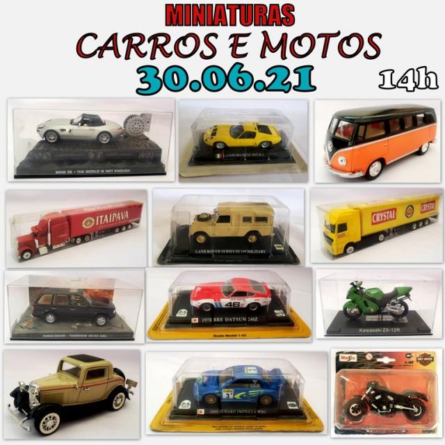 LEILÃO -  MINIATURAS CARROS E MOTOS.