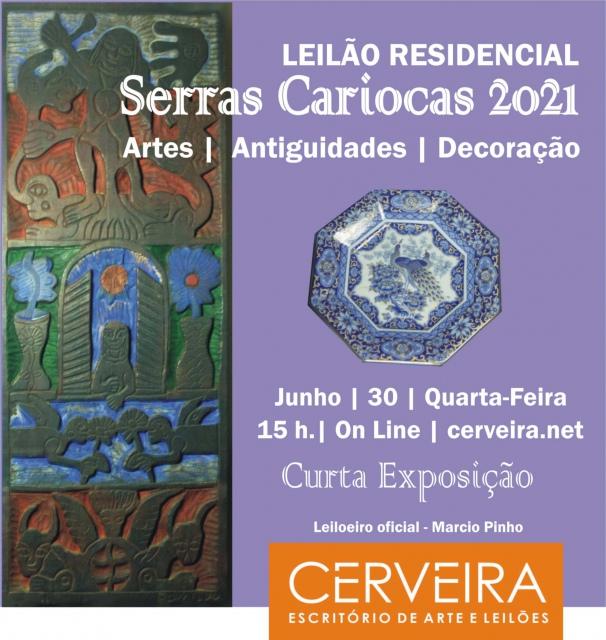 LEILÃO RESIDENCIAL SERRAS CARIOCAS 2021   ARTE   ANTIGUIDADES   DECORAÇÃO