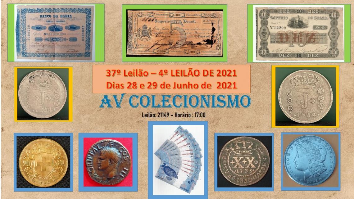 37º Leilão - AVCO - SOMENTE  Numismática