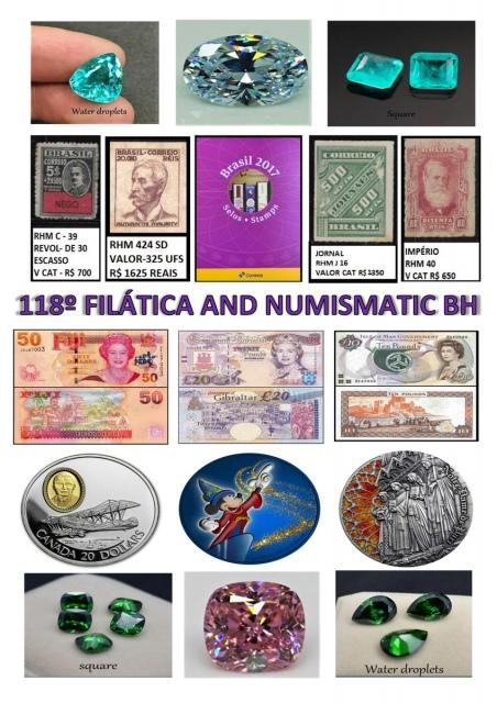 118º LEILÃO FILATICA AND NUMISMATIC BH