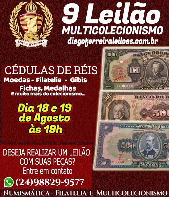 8º Leilão Diego Ferreira de Numismática e Colecionismo