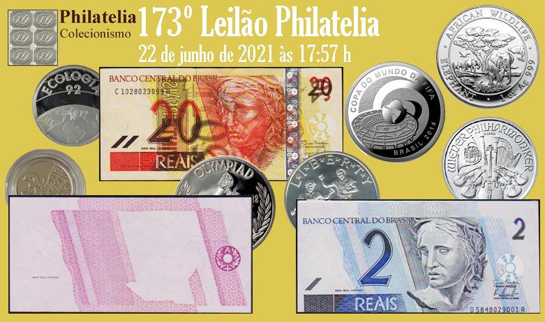 173º Leilão de Filatelia e Numismática - Philatelia Selos e Moedas