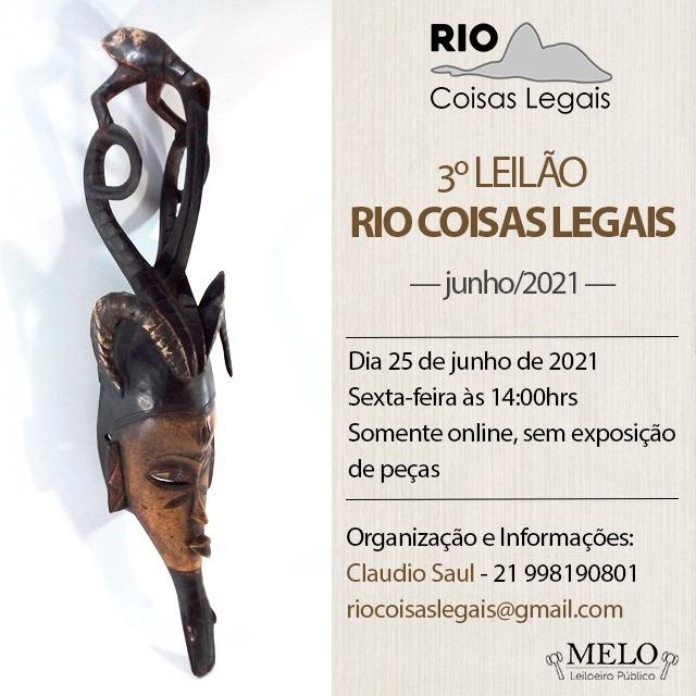 3º Leilão Rio Coisas Legais - Junho/2021