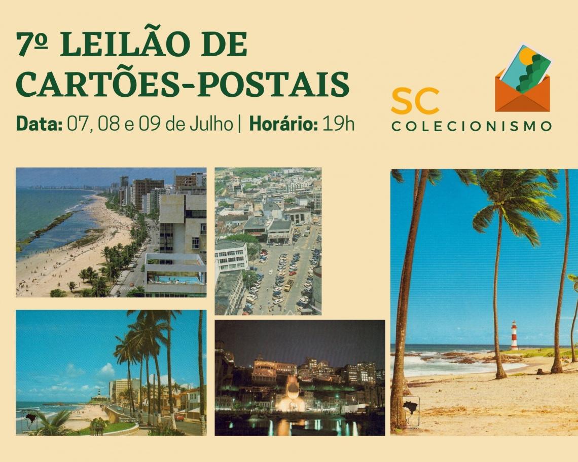 LEILÃO DE COLECIONISMO - CARTÕES POSTAIS