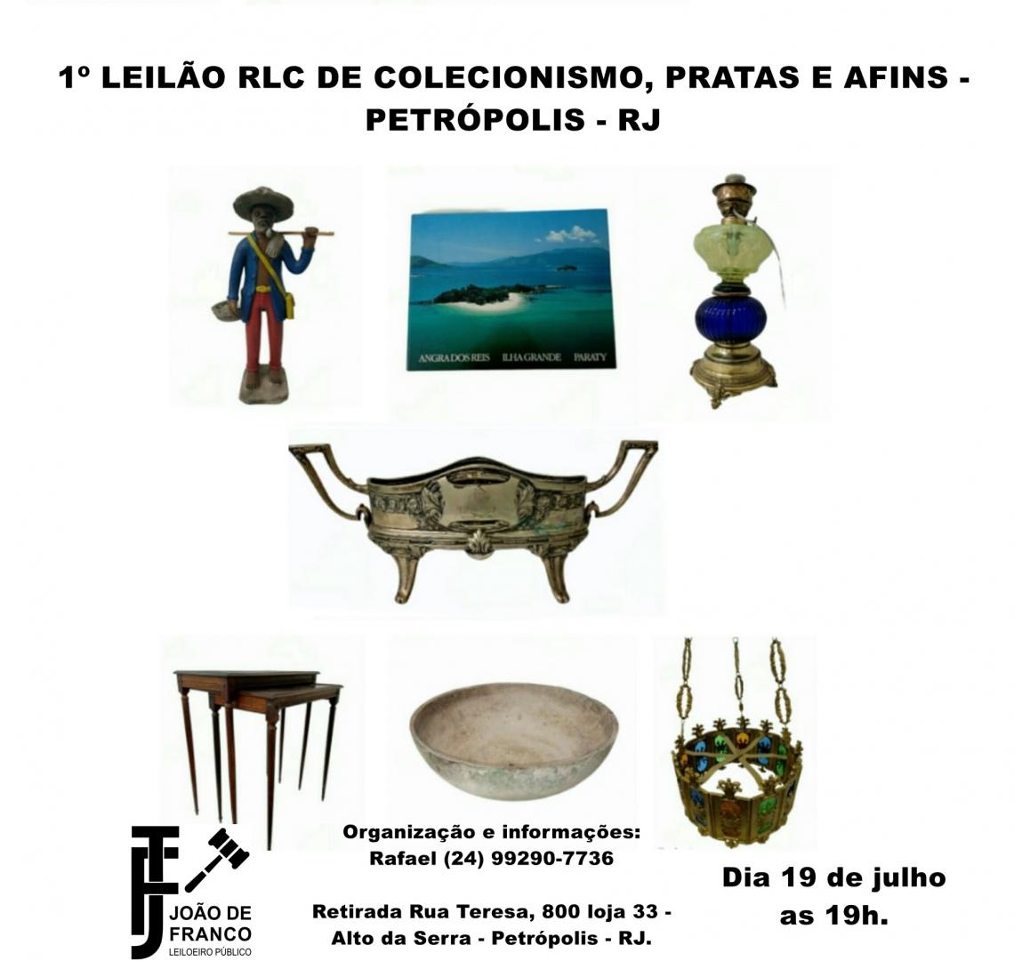 1º LEILÃO RLC DE COLECIONISMO, PRATAS E AFINS -  PETRÓPOLIS - RJ