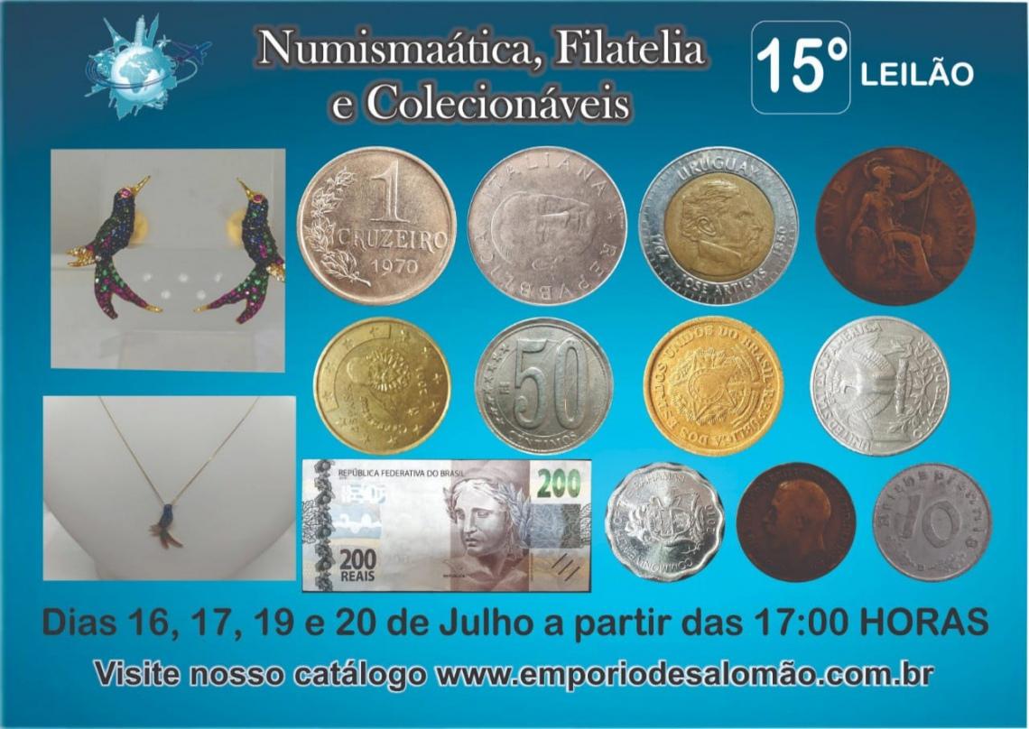 15 Leilão de Numismática, Filatelia e Colecionáveis
