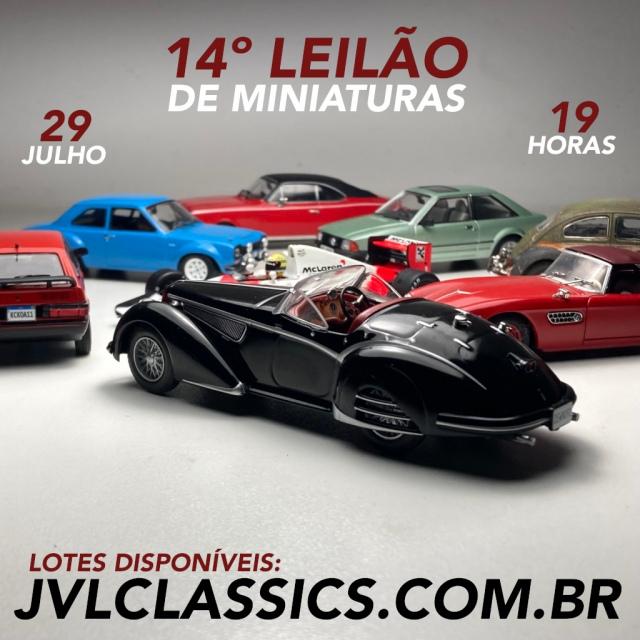 14º Leilão de Miniaturas de Carros Colecionáveis JVL Classics