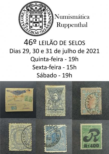 46º LEILÃO DE SELOS - NUMISMÁTICA RUPPENTHAL