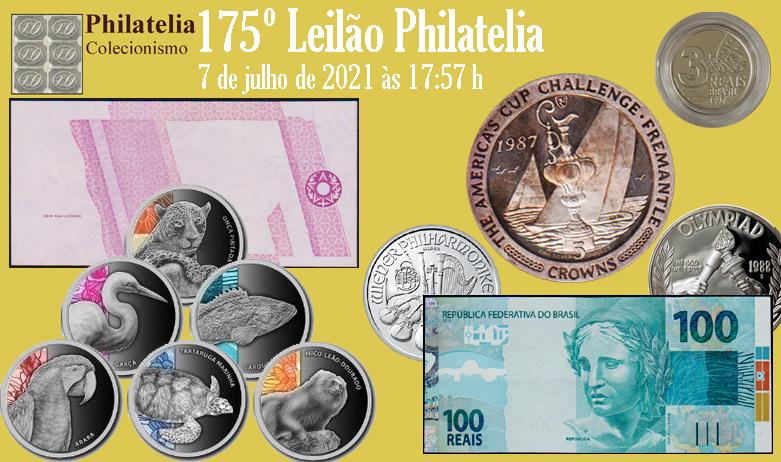 175º Leilão de Filatelia e Numismática - Philatelia Selos e Moedas