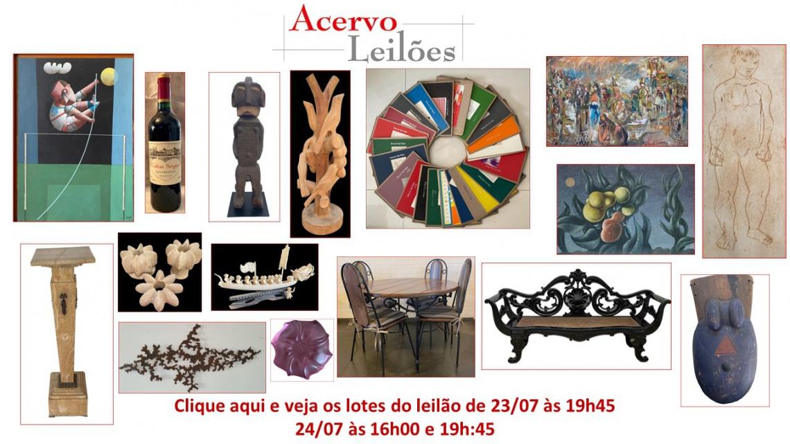 LEILÃO DE OPORTUNIDADES: ARTE, DECORAÇÃO E COLECIONISMO - 23 e 24/07/2021