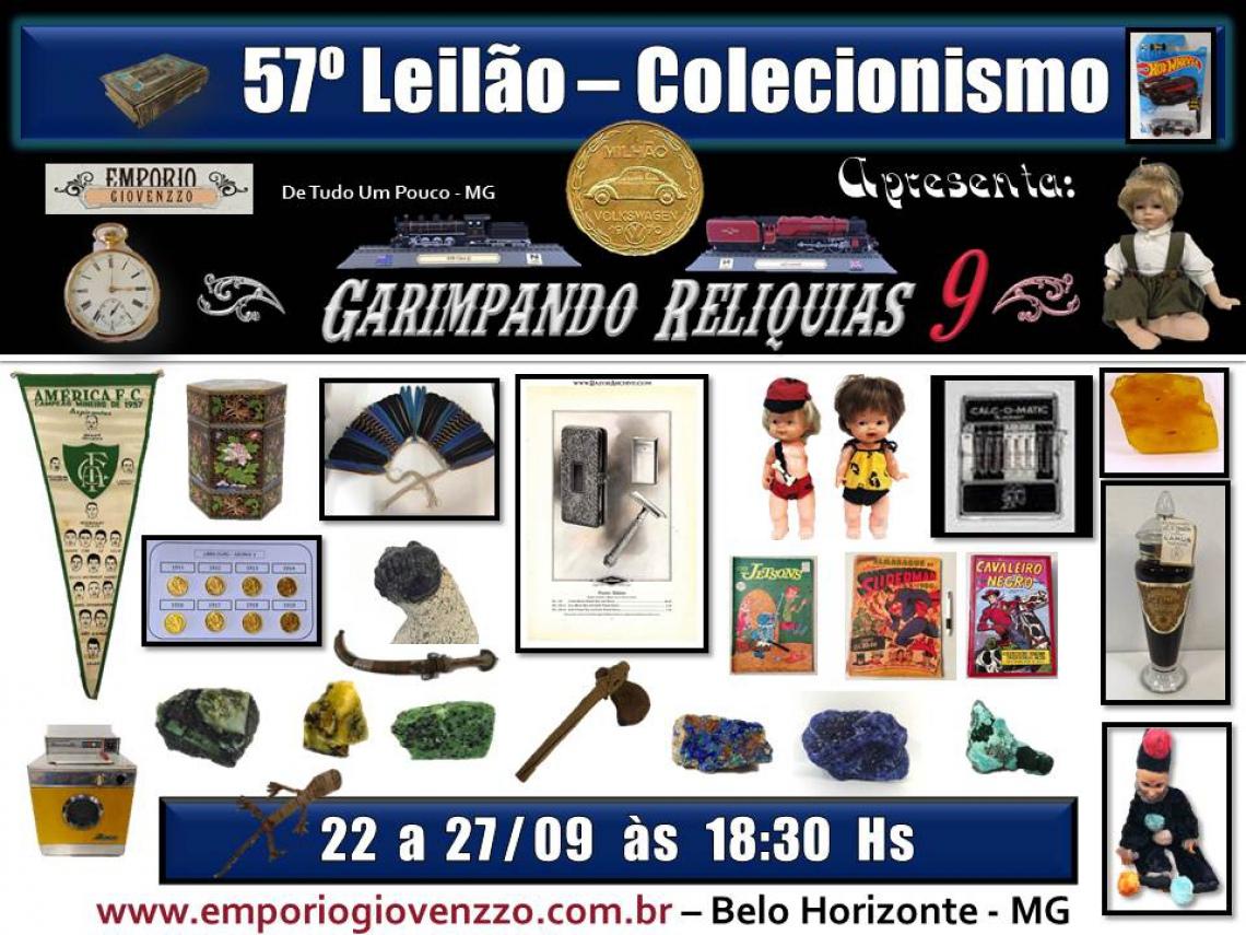 57º LEILÃO DE TUDO UM POUCO - MG - COLECIONISMO