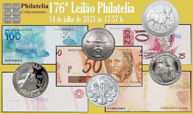 176º Leilão de Filatelia e Numismática - Philatelia Selos e Moedas