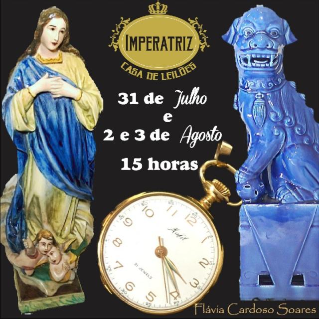 9º Leilão Acervos de Importantes Famílias Paulistas: Antiguidades, Muranos, Joias, Arte Sacra e mais