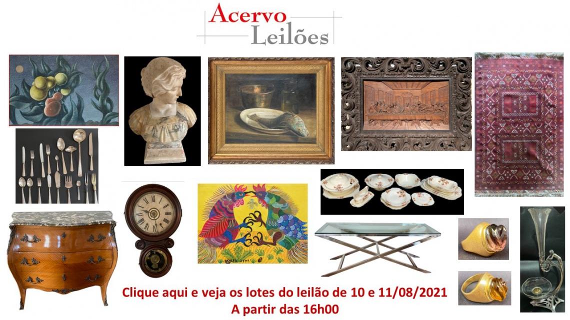 LEILÃO DE OPORTUNIDADES: ARTE, DECORAÇÃO E COLECIONISMO - 10 e 11/08/2021