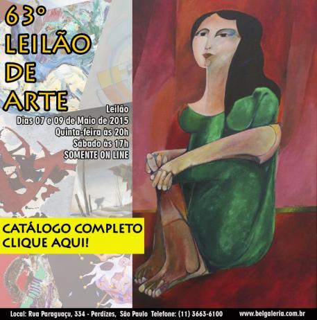 63 LEILÃO DE ARTE E ANTIGUIDADES - (11) 3663-6100