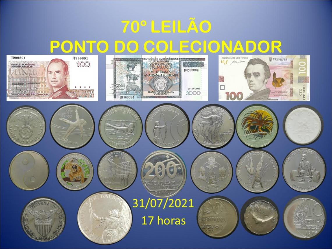 70º LEILÃO PONTO DO COLECIONADOR